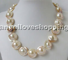 16-20Mm genuined cultured white MABE pearl necklace MABE magnet clasp