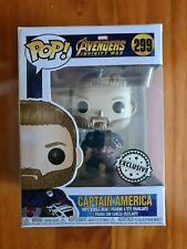Funko Pop Captain America # 299 Infinity War Exclusive Vinyl Figure Brand New