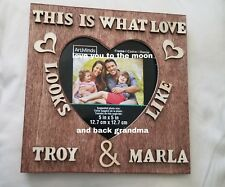 "Weeding Personalized Names Sign Custom Wood Frame Couple Wedding Gift 7"" x 7"""