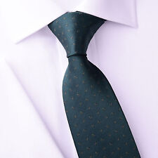 "Mens Skinny Tie Green Floral Pattern 3"" Beautiful Woven A+ Matching Luxury Shirt"