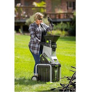 Electric Wood Chipper Shredder Collection Bin Portable Outdoor Garden Power Tool