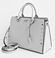 Michael Kors Tasche/Bag  Sylvie Stud Large Satchel  Aluminium NEU!