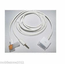 2 en 1 USB 3.5MM Auxiliar Audio para Dock Cargador Cable Datos iPad iPod iPhone