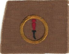 BOY SCOUT LEATHERWORKING #3 SQUARE TEENS MERIT BADGE (TYPE AA) MINT GOLD RING