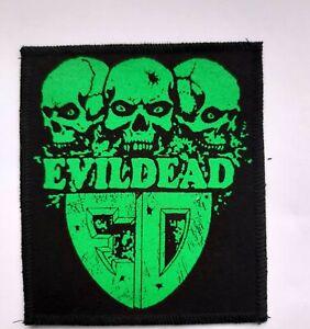 Evil Dead patch,thrash metal,slayer,punk,exodus,anthrax,metallica
