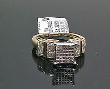 10K Ladies Square Face Yellow Gold Ring With 0.22CT Diamond/ Engagement, Band