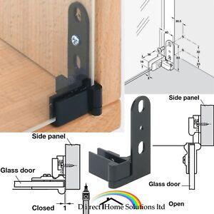 2 X Hafele Sprung Glass Door Inset Mount Pivot Hinges 180° (2=1 pair)Top Bottom