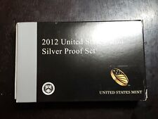 The Rare 2012 US Mint Silver Proof Set with Box/COA and presidents - US Coins