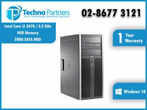 Hewlett Packard Compaq 8300 Elite i5 3470 3.2GHz Win 10 Pro Tower with Warranty