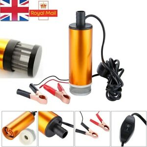 Diesel Fuel Electric Transfer Pump Refueling 12V DC Submersible GOLD Filtered