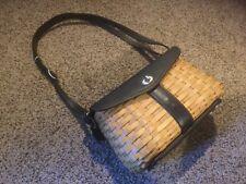 "Pre Owned retired hostess SIgnature PURSE Shoulder bag Basket.  11"" x 4"" x 5""."