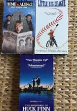 Lot Of 3 VHS Family Movies For Kids Little Big League Huck Finn Home Alone 2
