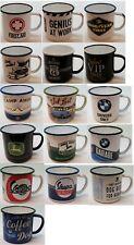 Nostalgic Art Emaille Becher Kaffeebecher Nostalgie Tasse Camping Cup BMW Bulli