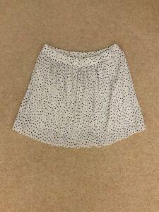 ZARA Basic white skirt with elastic top size M polka heart print