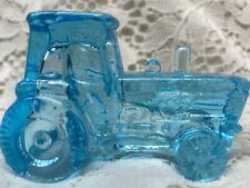 Blue Vaseline glass John Deere Farm Tractor uranium Ford New Holland / Magnesium