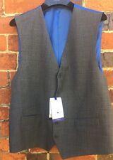 Chester by Chester Barrie POW Check Grey Gilet lana taglia 44R RPR £ 100