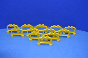 LEGO 12 x Geländer Zaun Absperrung 1x4x2 gelb yellow fence hanger 4083 408324