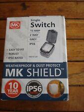 MK SHEILD 10amp 2 WAY SINGLE SWITCH WEATHERPROOF & DUSTPROOF