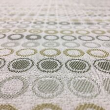 TOP QUALITY GREEN SPOTS CIRCLES UPHOLSTERY JACQUARD FABRIC MATERIAL SALE!