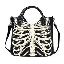 Women Handbag Skeleton Bones Bats Skulls Eyeballs Horror Emo Gothic Shoulder Bag