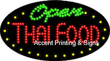 Thai Food Open Flashing & Animated Real Led Sign
