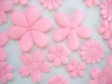 60 Assorted Felt Flower Daisy Applique/fabric/motif/trim/padded/baby H198-Pink