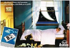 PUBLICITE ADVERTISING  1980   LOTUS  draps et taies  ( 2 pages) linge de maison