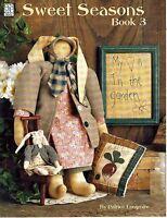 "1994 Pattern Booklet Sweet Seasons Book 3 Patrice Longmire 16"" Rabbit Doll #53"