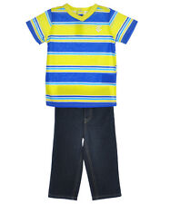 Rocawear Boys 2pc Outfit Shirt & Denim Jean Pants Set Size 12 Months