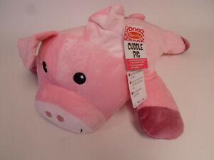 "Melissa & Doug Cuddle Pig 28"" Large Plush Stuffed Animal Pillow"
