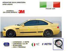 Modanature BMW E46 TUNING SERIE 3 esterne laterali in gomma per adesivi paraurti