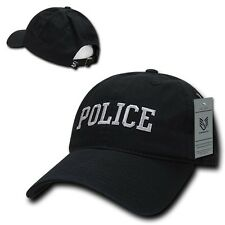 Black Police Officer Law Enforcement Cop Low Crown Baseball Polo Style Cap Hat