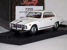 ALFA ROMEO 2600 SPRINT STREET 1962  WHITE BIANCO  BANG 7255 1/43