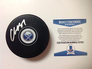 Casey Mittelstadt Signed Autographed Buffalo Sabres Puck Beckett BAS COA a