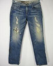 Guess By Marciano Relaxed Sexy Fit Jeans Pants Size 27 Blue Ripped Comfort