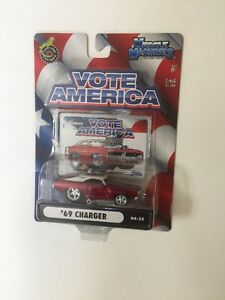 Muscle Machines 69 1969 Dodge Charger Vote America Republican 1:64 Diecast 04-35