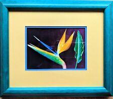 Framed Postcard Bird-of-Paradise Flower