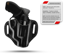 """Chiappa Rhino 30DS (3"""" barrel) Pancake OWB Right Hand Black Leather Holster"""
