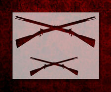 "Crossed Rifles Rifle Guns 11"" x 8.5"" Custom Stencil FAST FREE SHIPPING (75)"