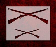 """Crossed Rifles Rifle Guns 11"""" x 8.5"""" Custom Stencil FAST FREE SHIPPING (75)"""