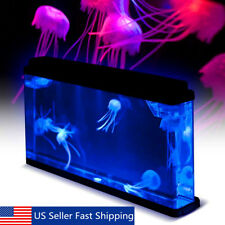 Deluxe LED Light Glowing Jellyfish Aquarium Fish Pet Tank Sea World Home Decor