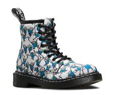 DR MARTENS JUNIOR DELANEY ADVENTURE TIME FINN PRINT CANVAS BOOTS - KIDS SIZE 11.