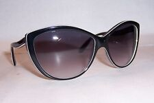 NEW ALEXANDER MCQUEEN SUNGLASSES AMQ 4147/S BLACK/GRAY F10-9C AUTHENTIC