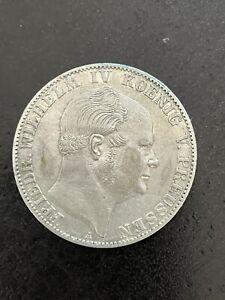 Preussen 1 Vereinsthaler 1859A Friedrich Wilhelm IV König Taler Pfund sehr schön