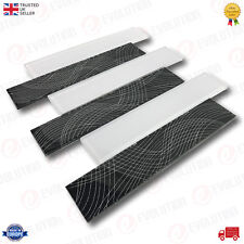 30x30 cm INTERLOCKING GLASS WALL TILE SILVER & BLACK WITH WAVE DETAILS