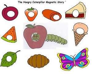 THE HUNGRY CATERPILLAR -  MAGNETIC STORY PROPS