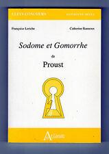 Sodome et Gomorrhe de Proust - Françoise Leriche et Catherine Rannoux