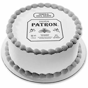 Patron label Image Edible Cake topper Frosting Sheet