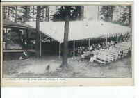 CG-123 MA, Douglas, Outdoor Auditorium Campground, White Border Era Postcard