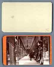 E. Risse, Allemagne, Bad Ems Kurgarten La Colonnade CDV vintage albumen carte de